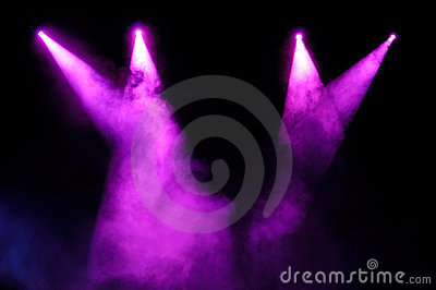 Purple Spotlights