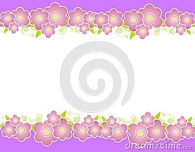 Purple Spring Flowers Border