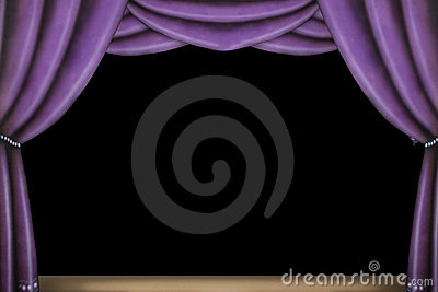 Purple stage curtain stock photo image 6512100