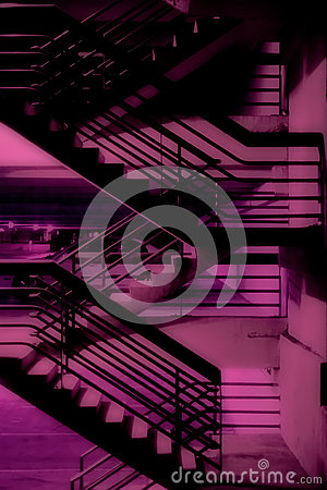 Free Purple Stairway Royalty Free Stock Photography - 70957057