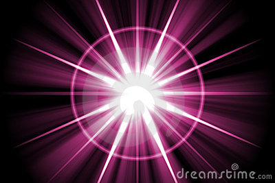 Purple Star Sunburst Abstract