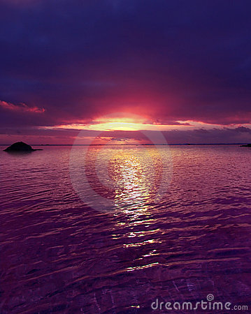 Free Purple Sunset Stock Photography - 157882