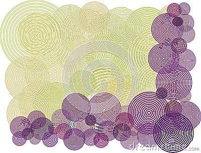 Purple swirl circle background illustration