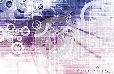 Purple Techno Grunge Background