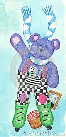 Purple teddy skating