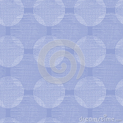 Purple textile circles seamless patter background