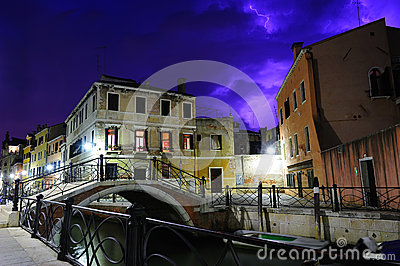 Purple thunderstorm in Venice