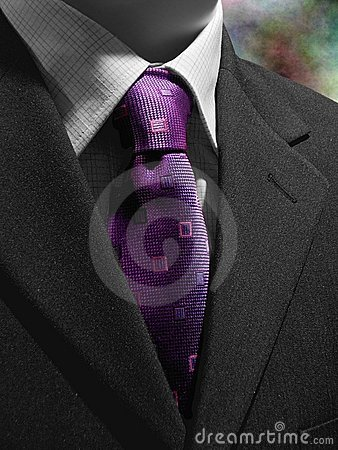 Free Purple Tie Black Suit Royalty Free Stock Photo - 2135225