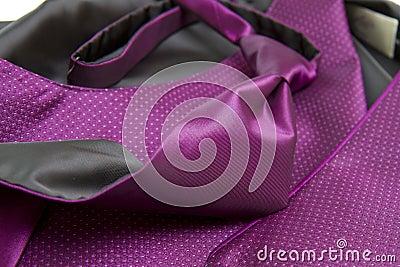Purple tie and vest