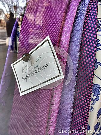 Free Purple Ties, Goodman`s Men`s Store, Bergdorf Goodman, NYC, NY, USA Royalty Free Stock Photo - 113667255