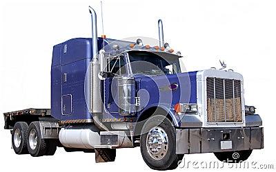 Purple Truck Isolated