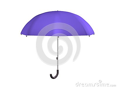 Purple Umbrella, Isolated_Raster