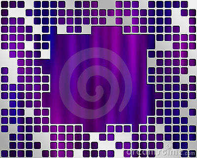 Purple Under Metal Grid, place for big text