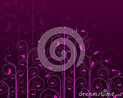 Purple vine design