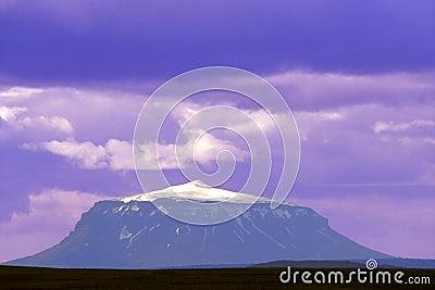 Purple volcano