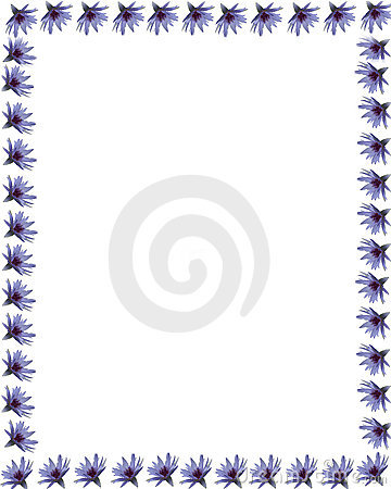 Free Purple Water Lily Border 1 Royalty Free Stock Photos - 746028