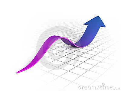 Purple wave arrow graph