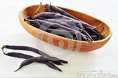 Purple wax snap bean