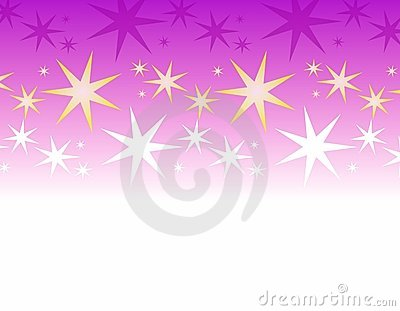 Purple White Stars Border