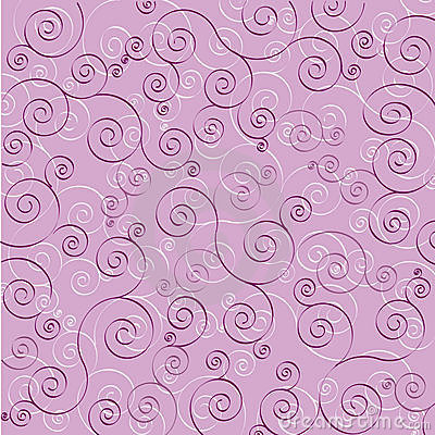 Purple and white swirls on purple background