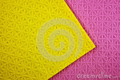 Purple and yellow background.