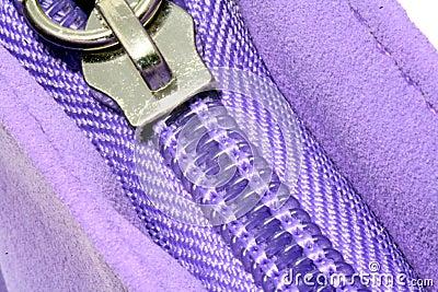 Purple zipper