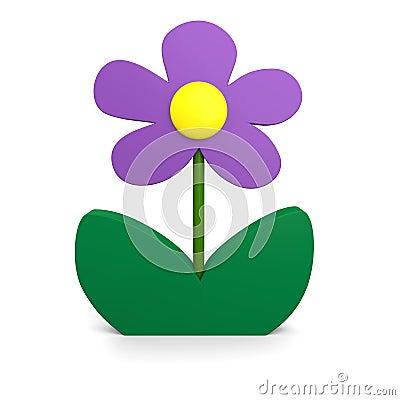 Purpur blomma