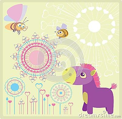 Purpurowy koń
