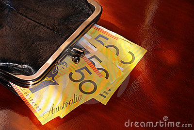 Purse with Aussie Notes
