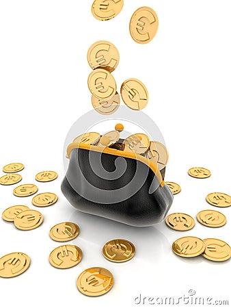 Purse coin euro