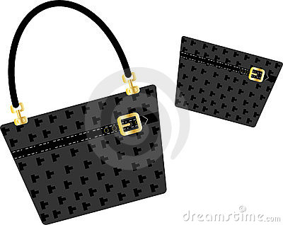 Purse and handbag black