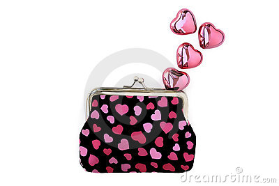 Purse hearts and love