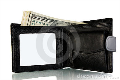 Purse with a money