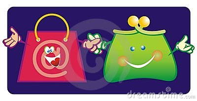 Purse and shopping bag