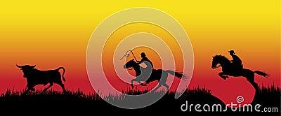 Pursuit of 2 cowboys