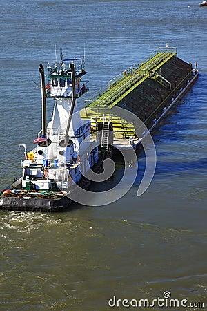 Push boat & barge.