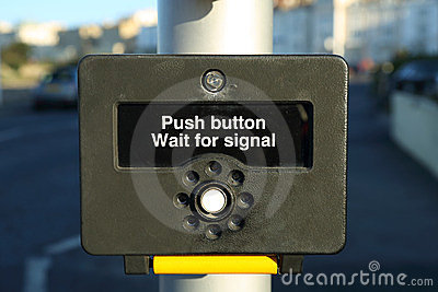 Push Button Wait for Signal