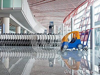 Push cart at the airport