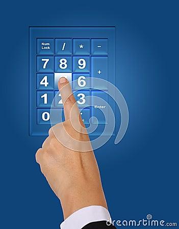Push keypad