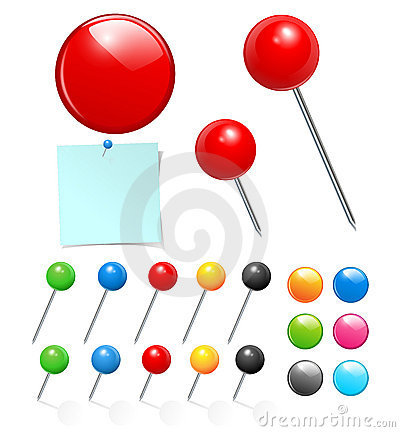 Free Push Pin Collection Stock Images - 20053854