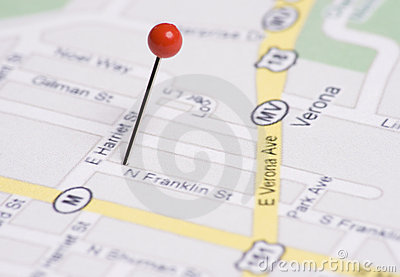 Push Pin in Map