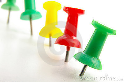 Push Pins Stock Images - Image: 1964614
