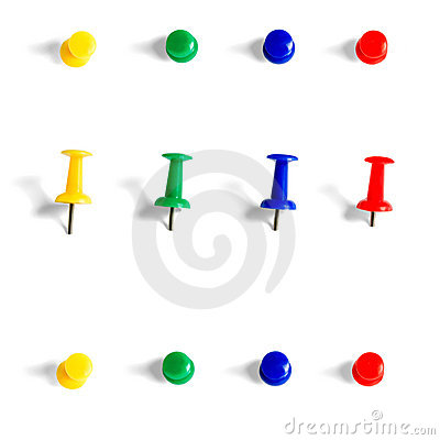 Free Push Pins Stock Photography - 23303642