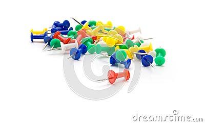 Push-pins coloured