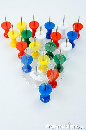 Push pins formation