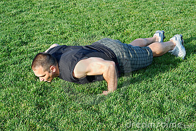Push Ups On Grass