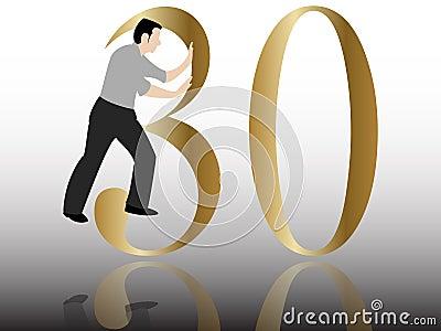 Pushing the 30 th congratulation
