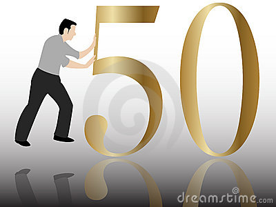 Pushing the 50 congratulation