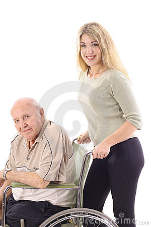 Pushing Grandpa
