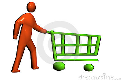 Pushing a retail trolley